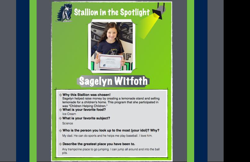 Stallion in the Spotlight – Sagelyn Witfoth