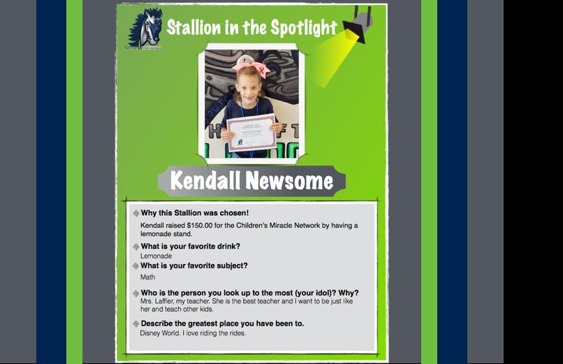 Stallion in the Spotlight – Kendall Newsome