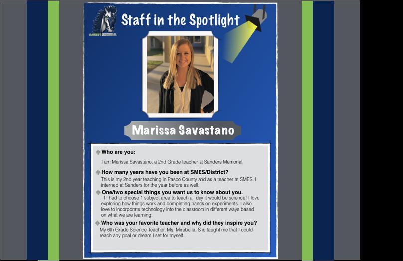 Staff in the Spotlight – Ms. Savastano